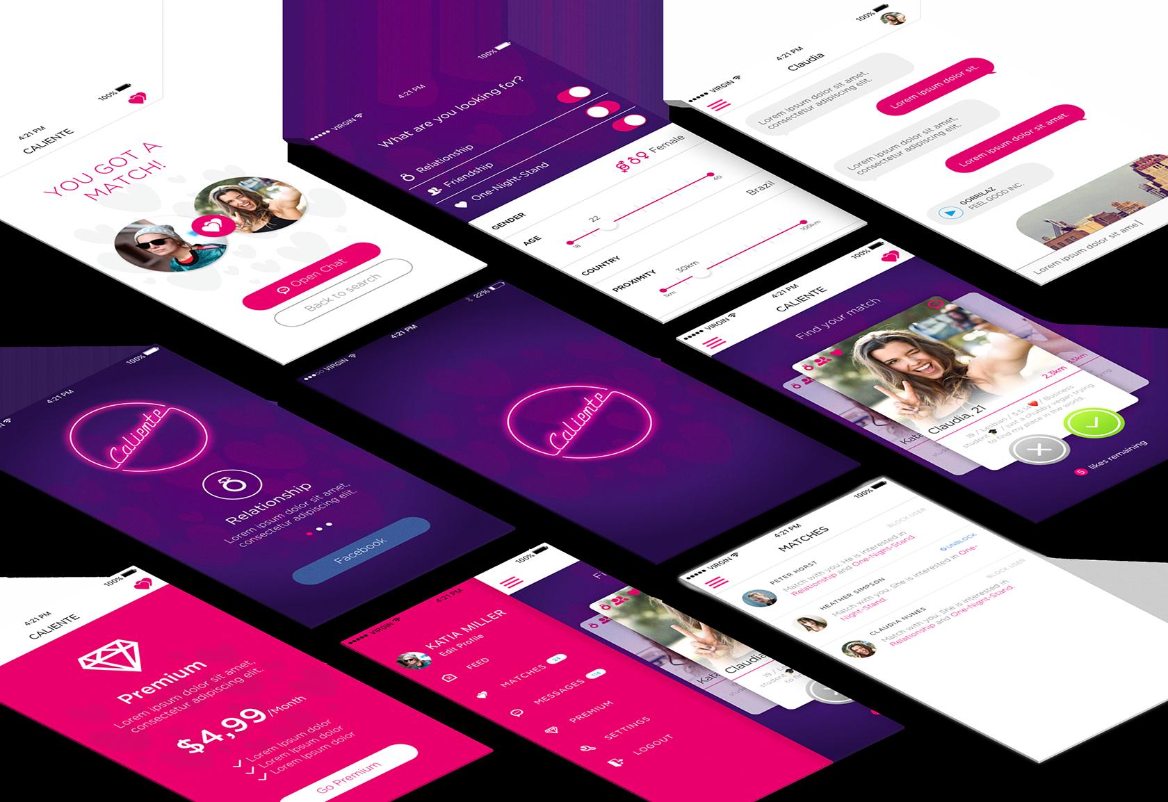 Caliente dating app